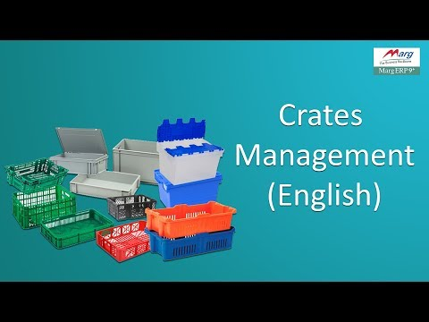 "Business Booster Crates Management in ""Marg ERP"" [English]"