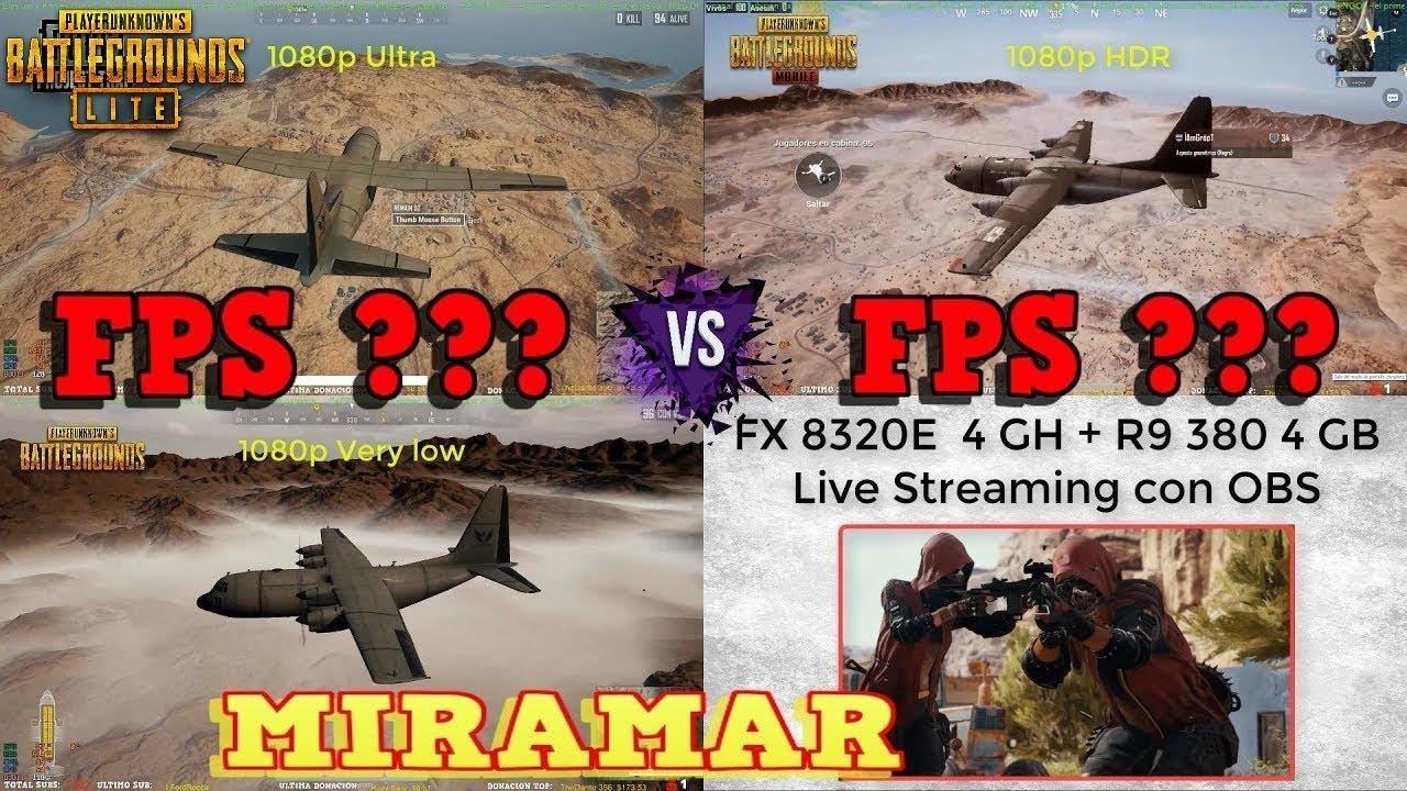 PUBG LITE PC vs PUBG STEAM vs PUBG MOBILE 👉 MIRAMAR FPS 👈 Graphics  Comparison | PUBG PROJECT THAI