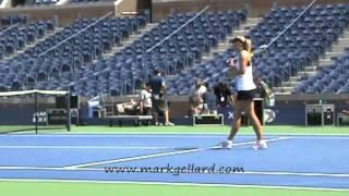 Maria Sharapova Practice 2011 U.S. Open