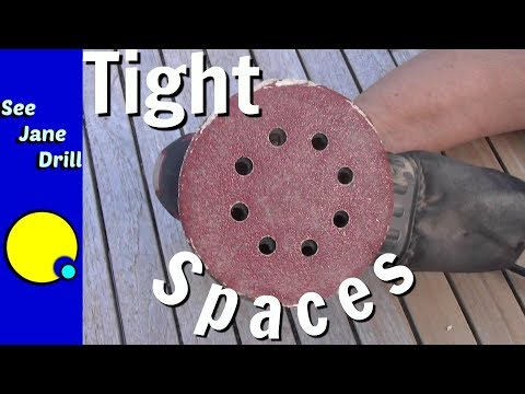 Sanding Tip for Tight Spaces