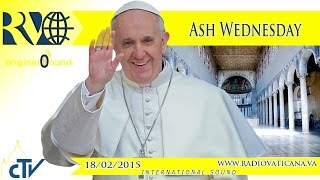 Procession and Celebration of Ash Wednesday - 2015.02.18