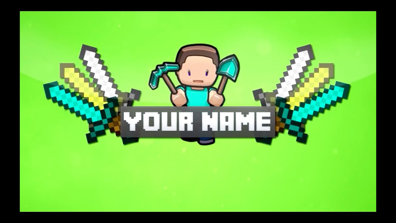 Free minecraft intro banner avatar 12 youtube for Custom video intro templates