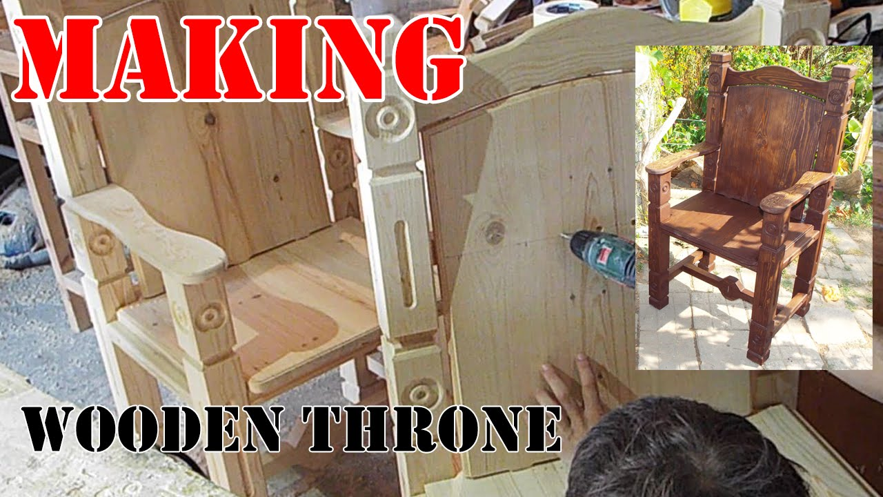 how to make acardboard thron