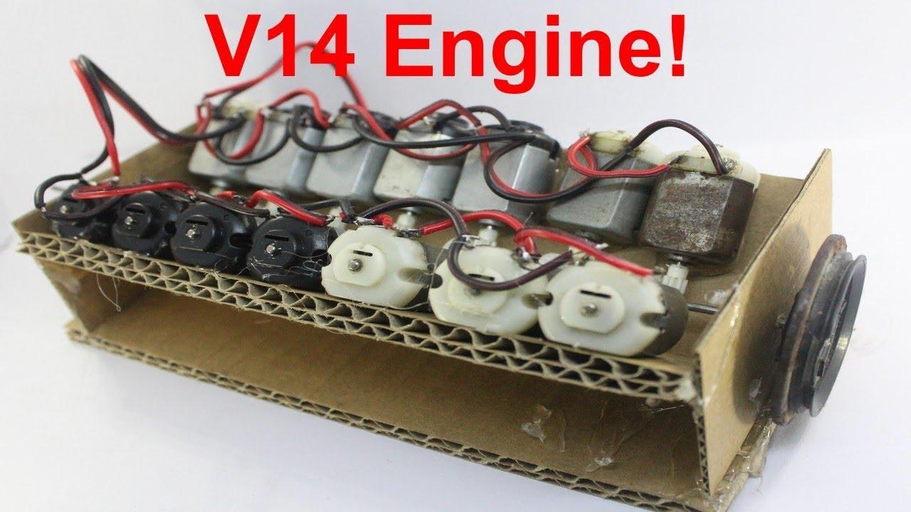 how to make a v14 engine from dc motor v14 engine [ 1280 x 720 Pixel ]
