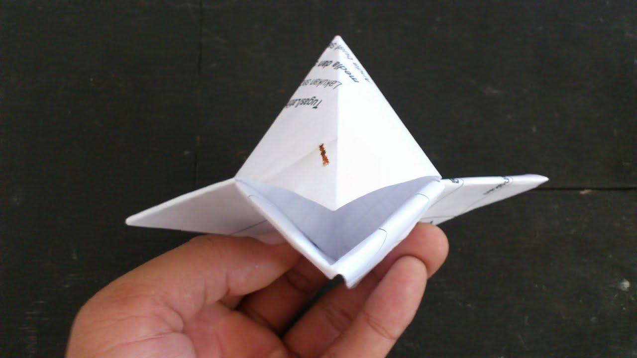 cara membuat origami burung - paruh burung bisa bergerak