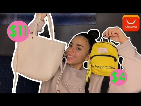 EXTREMELY CHEAP ALIEXPRESS ACCESSORIES REVIEW (BAGS & PURSES) UNDER $4!  + TRY-ON