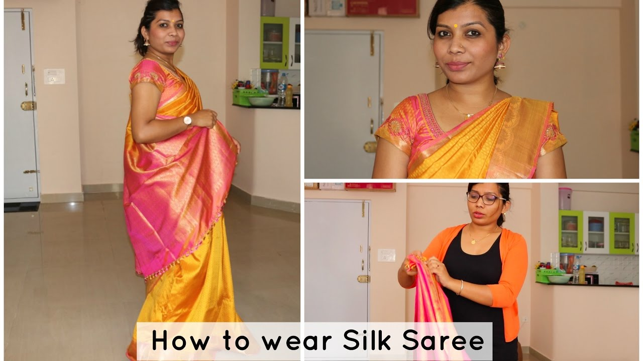 How to silk wear saree youtube photo