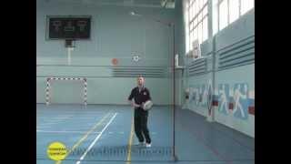 Теннисные тренажеры.. Удар сверху (smash) в теннисе