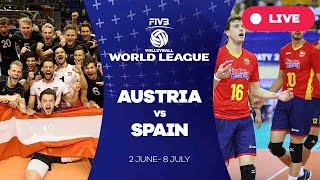 Video Austria v Spain - Group 3: 2017 FIVB Volleyball World League download MP3, 3GP, MP4, WEBM, AVI, FLV November 2017