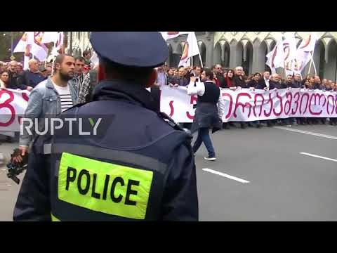 Georgia: 'Patriots' In Tbilisi Rally For Dialogue With Russia