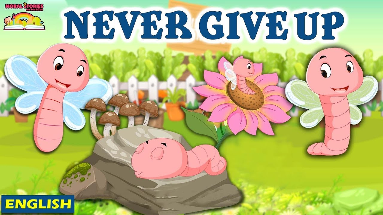 Never Give Up | English Moral Stories | Story For Kids | Ted And Zoe