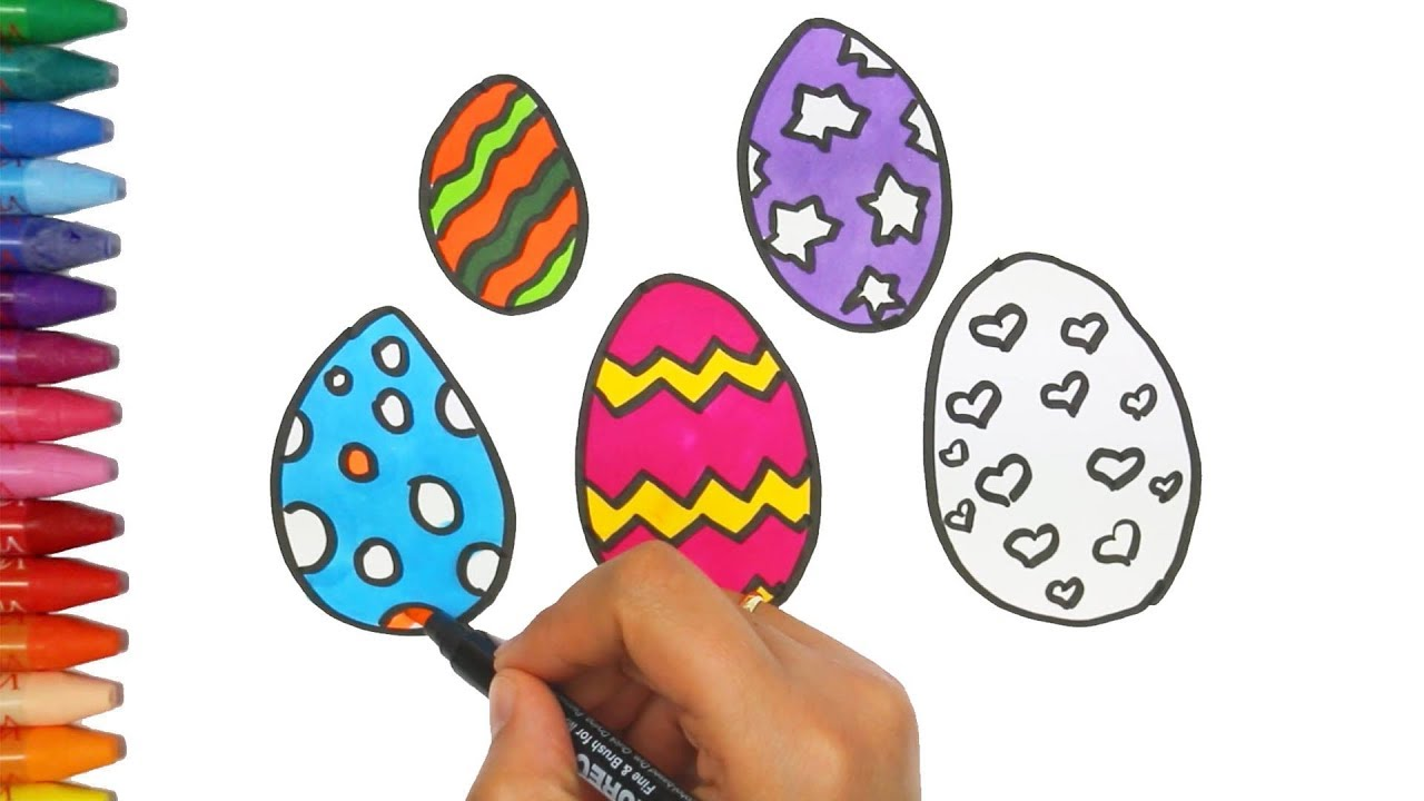Cara Menggambar Dan Warna Telur Kejutan Cara Menggambar Dan