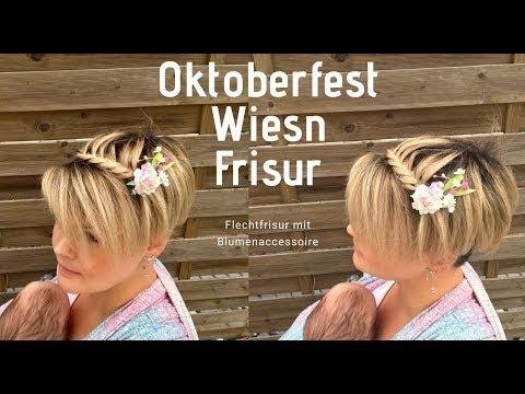 Oktoberfest Wiesn Flecht Frisur Dirndlfrisur Fur Kurze Haare