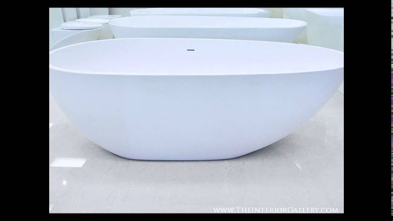 Luxury Modern Solid Surface Bathtub - Freestanding Bathtub - Soaking ...