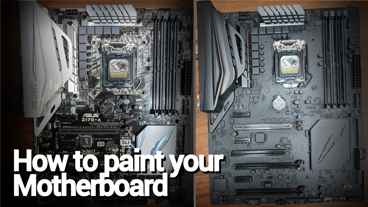 Pc Modding Basics How To Paint Your Motherboard Pcb Youtube Make Own Circuit Board On Computer Ehow Com