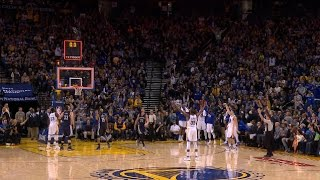 Kevin Durant and Klay Thompson Buzzer-Beaters in the First Half | 01.06.17