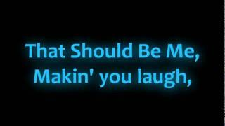 Justin Bieber - That Should Be Me Feat. Rascal Flatts With  lyrics
