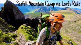 Scafell summit camp via Lord's Rake