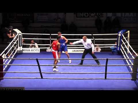 Mo Harris Akbar ENG v Pavel Kamanin EST 69kg Semi Gee Bee turnaus 2018