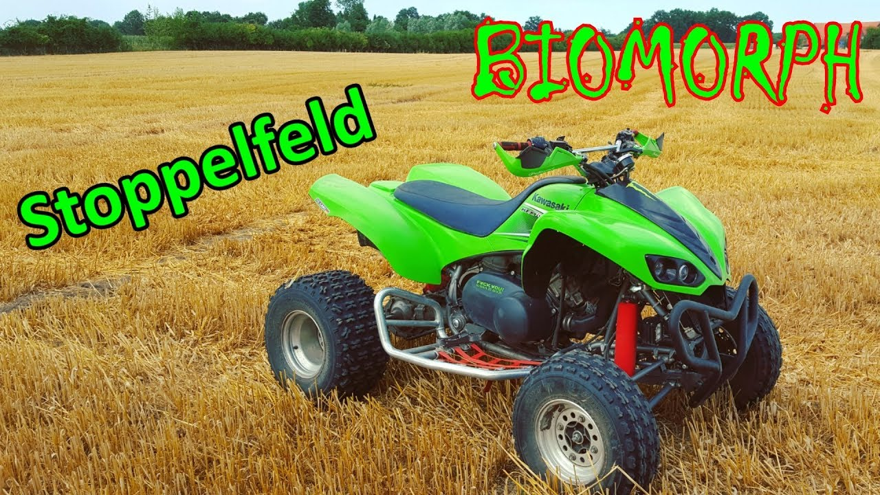 Download Mit meiner Kawasaki KFX 700 auf dem Stoppelfeld