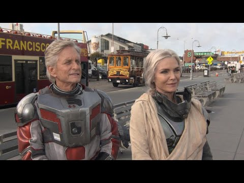 Michael Douglas and Michelle Pfeiffer Talk Challenges of the Supersuit On-Set of 'Ant-Man and the…