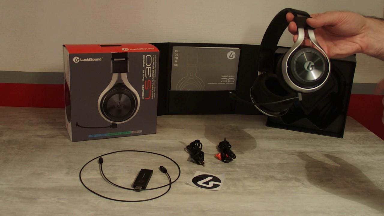 video test du casque gamer sans fil lucidsound ls30 ps4 xbox one youtube