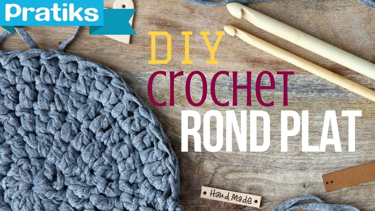 76e814f81de Crochet  Comment faire un rond plat   - YouTube
