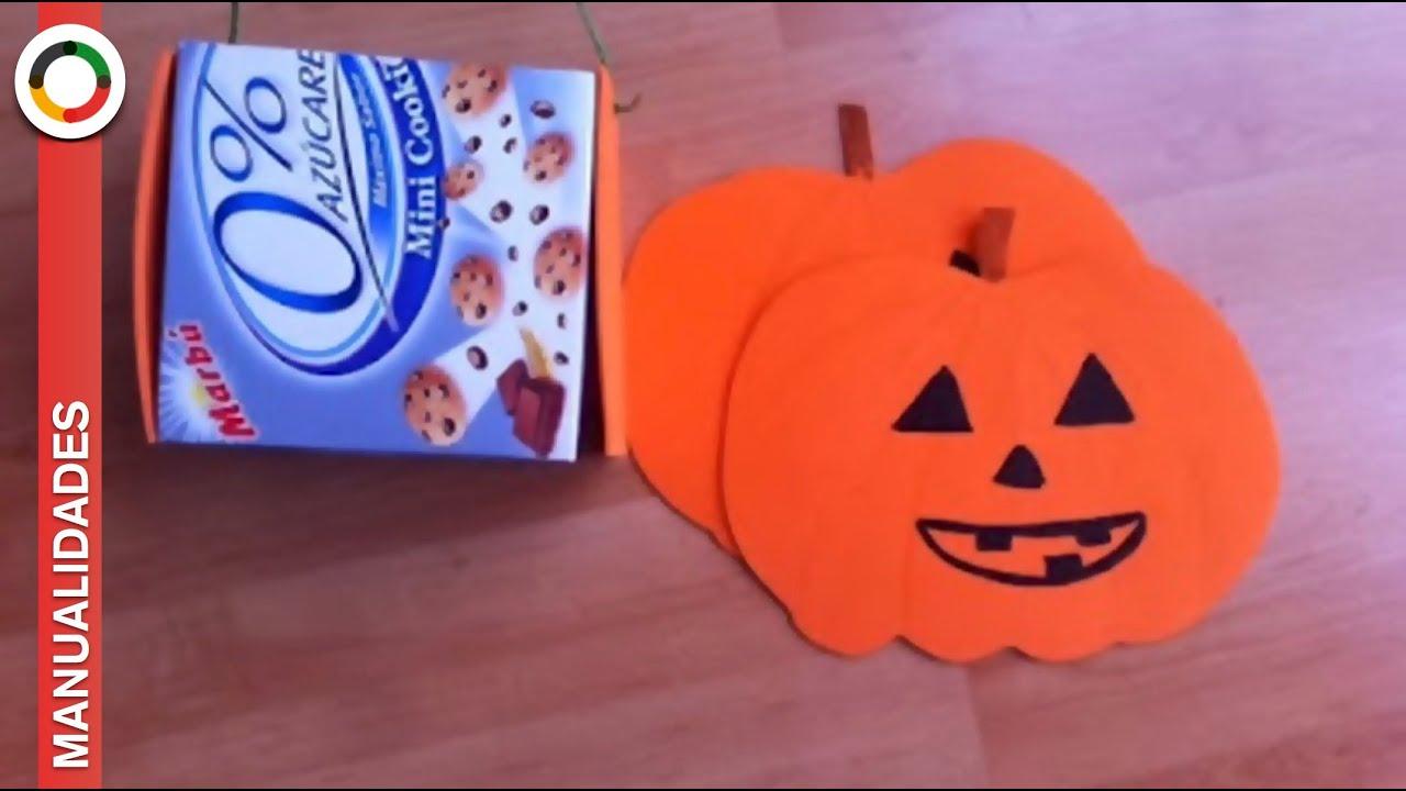 C mo hacer cesta calabaza con goma eva youtube - Como hacer calabaza halloween ...