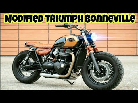 Modified Triumph Bonneville T120 Into Custom Bobber By Baak Motocyclettes