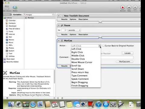 Automator Action to do Text Typing