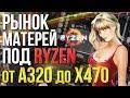 Рынок системных плат под AMD Ryzen  Сборка ПК B450 X470 на AMD