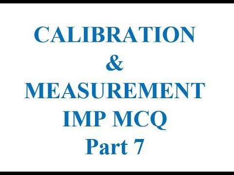 #CALIBRATION & #MEASUREMENT IMP #MCQ Part 7