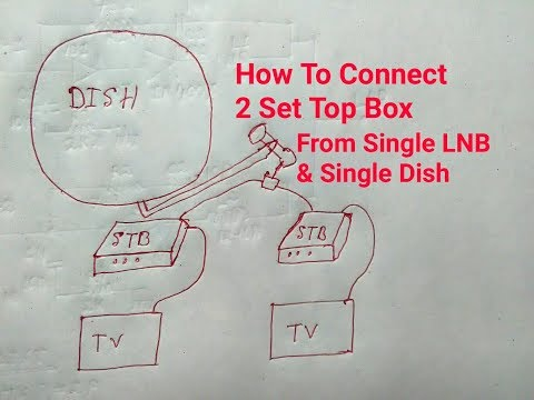 How To Connect 2 Set Top  Box With 1 Single LNB & Single Dish - Trick Video 2017 HD