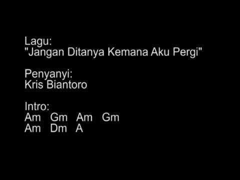 """Musik Chord & Lirik Pada Lagu Kris Biantoro """"jangan"""