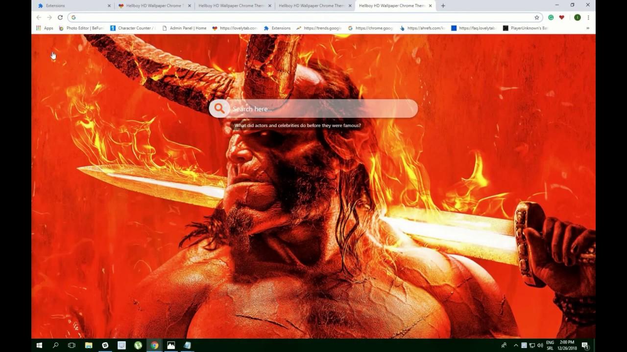 Hellboy Hd Wallpaper Chrome Theme Youtube