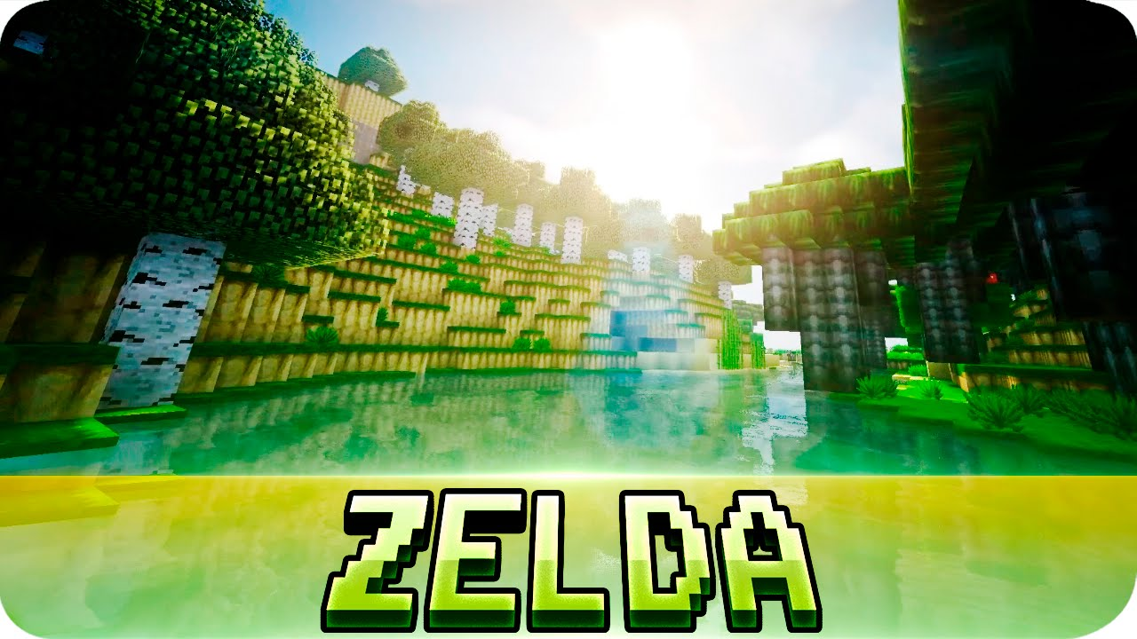 Minecraft - Legend Of Zelda Texture Pack with Shaders Mod! 1.8 / 1.7 - YouTube