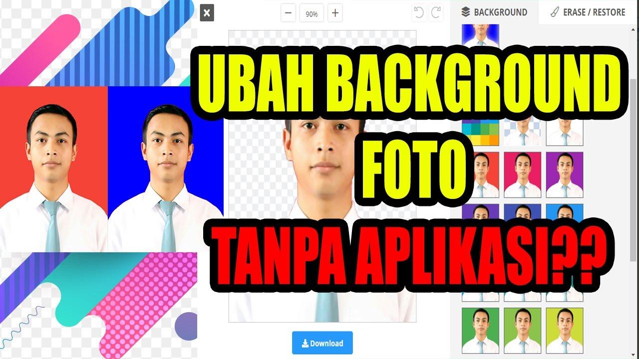 Cara Cepat Mengubah Background foto TANPA APLIKASI - YouTube
