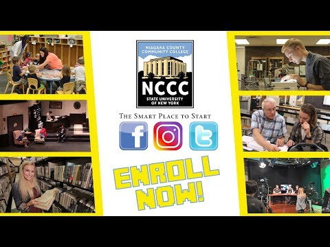 ENROLL NOW AT NIAGARA COUNTY COMMUNITY COLLEGE