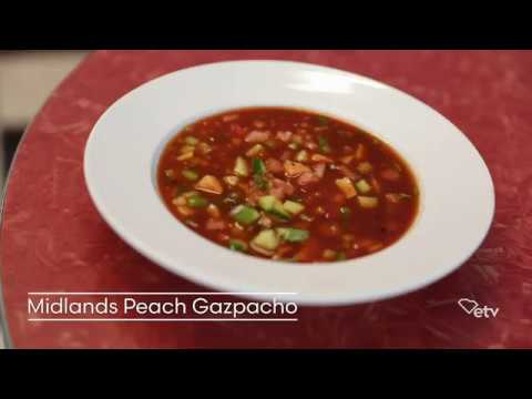 How to make Midlands Peach Gazpacho | Backroad Bites