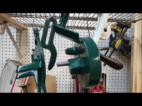 Antique Montgomery Wards Hand Crank Grinder Restoration