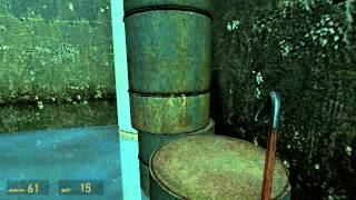 Half Life 2 Hack : Barrels Stacking In Sewers