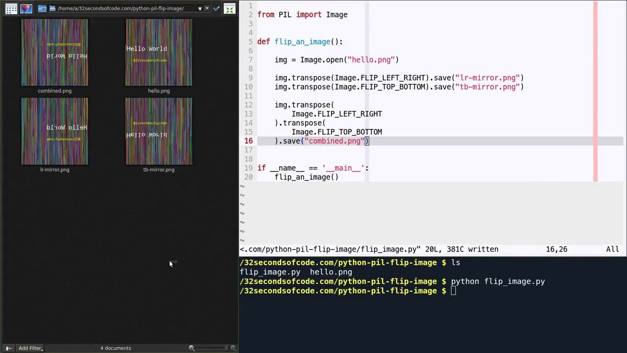 How to flip / mirror an image in Python using PIL?