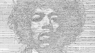 Iconic Musician Portraits Made of Musical Notes by Hayato Takano