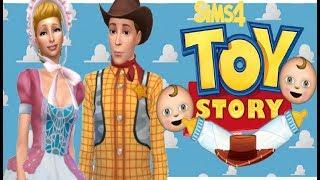 إذا وودي و بو زقزقة كان الأطفال!  أنا ديزني قصة لعبة سيمز 4 أنا الوراثة التحدي!إنشاء سيم