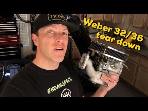 How to rebuild a Weber 32/36 carburetor  - YouTube