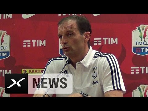 Coppa Italia: Massimiliano Allegri: Denken nicht ans Triple   Juventus Turin -  Lazio Rom