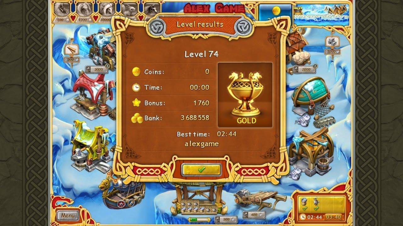 Farm Frenzy Viking Heroes Standart Level 74 GOLD Веселая ферма Викинги  Стандарт Уровень 74 Золото