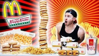 THE MCKRISPY KREME SUPERSTACK BURGER CHALLENGE! (10,000+ CALORIES)