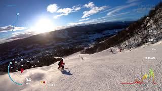 Norveç Geiloheisen 26 numaralı kırmızı pist gopro 7 deniyoruz.