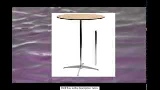 Flash Furniture Round Wood Cocktail Table With 30-inch And 42-inch Columns 36-inch